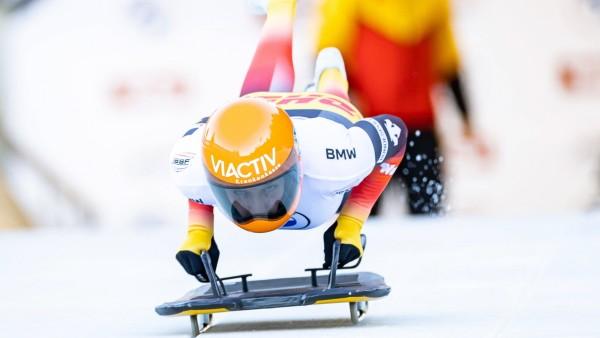 18.12.2020, Olympia Eiskanal, Innsbruck, AUT, BMW IBSF Weltcup Bob und Skeleton, Igls, Damen Skeleton, 1. Lauf, im Bild; Skeleton - Tina Hermann