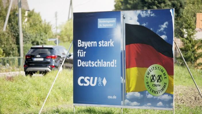 Bruck: Untergang der CSU / Wahlplakate