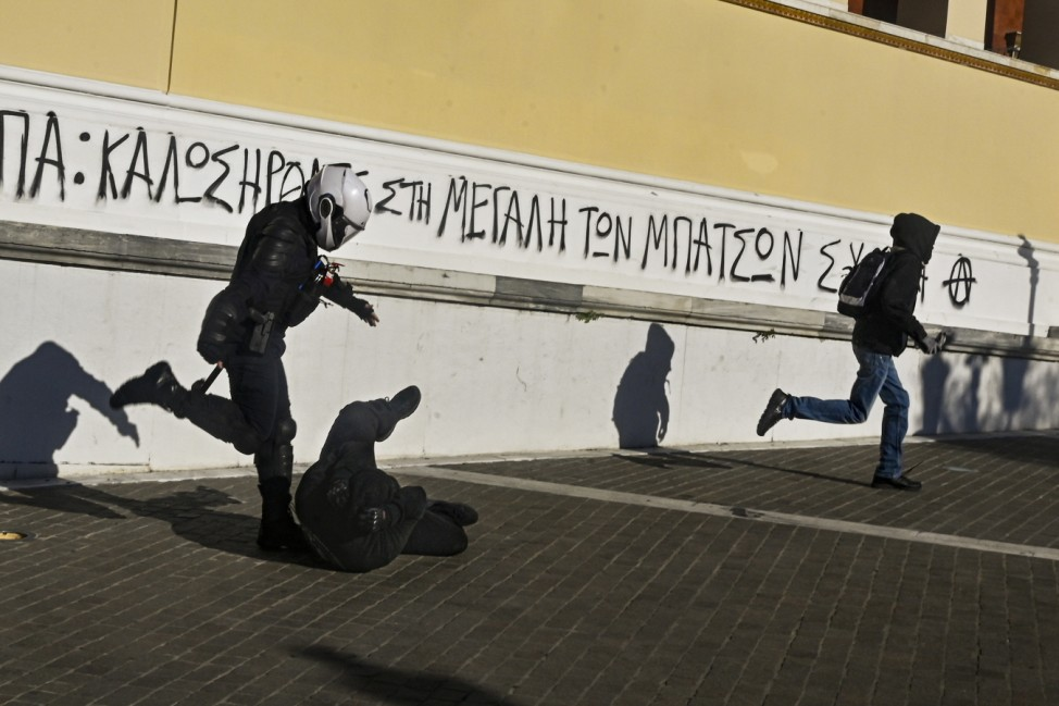 *** BESTPIX *** Protests As Athens Heads Into Full Covid-19 Lockdown
