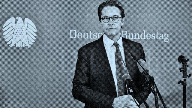 Andreas Scheuer bei der öffentlichen Vernehmnng in der Sitzung des 2. Untersuchungsausschusses Pkw-Maut im Marie-Elisab
