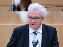 Stuttgart Landtag von Baden Wuerttemberg Plenarsitzung 144. Sitzung Donnerstag 11. Februar 2021, 10:00 Uhr Ministerprae