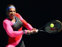 February 14, 2021: 10th seed Serena WILLIAMS of the USA in action against 7th seed Aryna SABALENKA of Belarus in a 4th