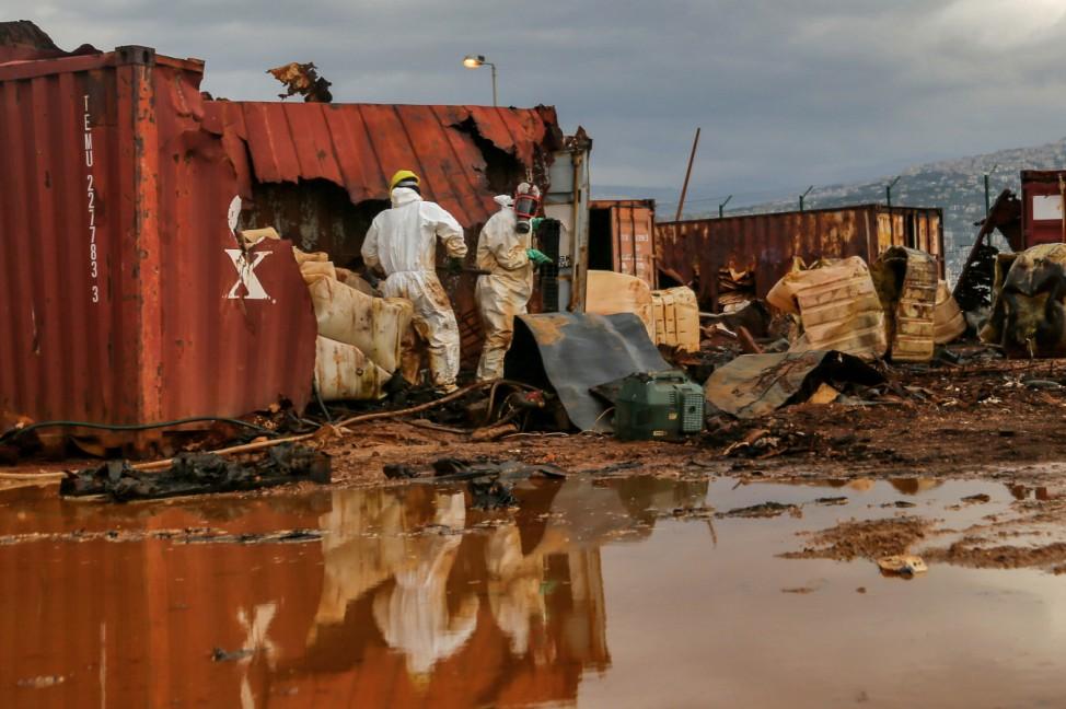 Entsorgung giftiger Substanzen im Hafen von Beirut