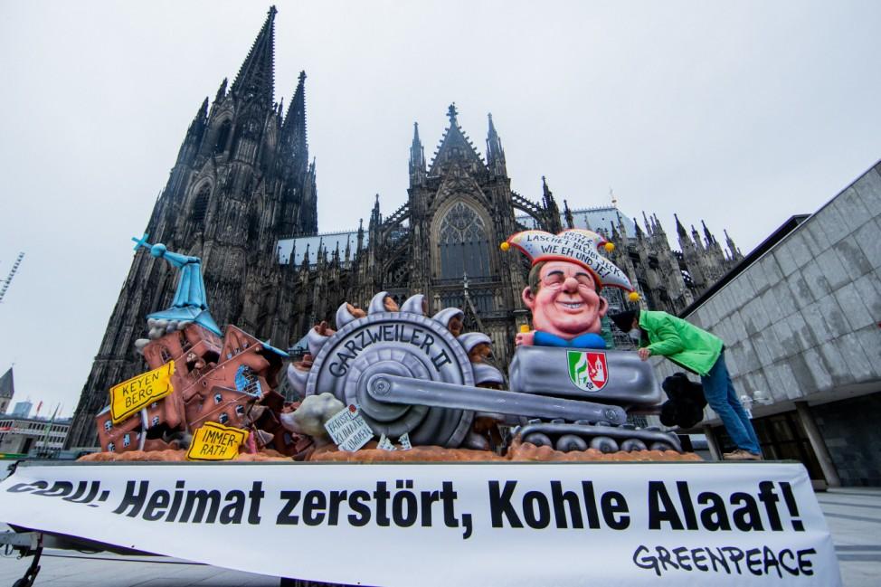 Greenpeace Karneval Protest in Köln