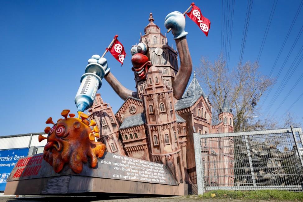 Motivwagen des Mainzer Carneval-Verein