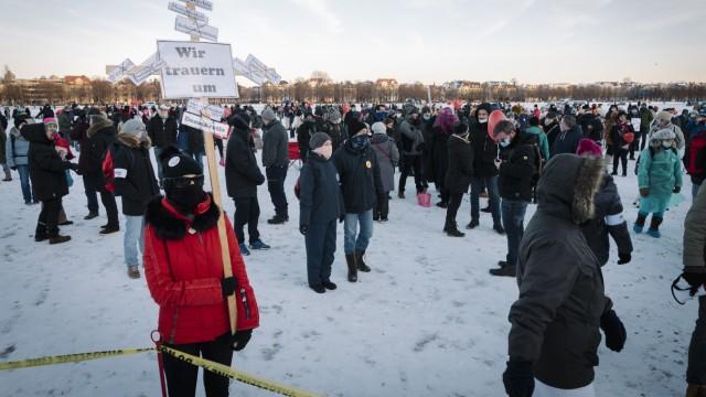 Demonstration gegen die Corona-Maßnahmen