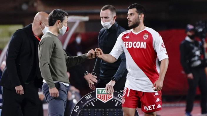 Niko Kovac (entraineur de l AS Monaco) - Kevin Volland (AS Monaco) FOOTBALL : AS Monaco vs Bordeaux FC - Ligue 1 Uberea; Kevin Volland