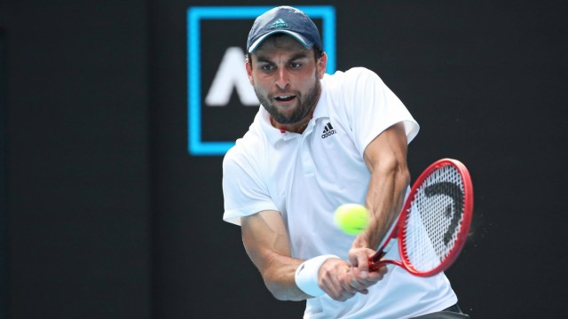 Aslan Karatsev, RUS, during quarter-finals of 2021 Australian Open in Melbourne, 16/02/2021; - *** Aslan Karatsev, RUS,