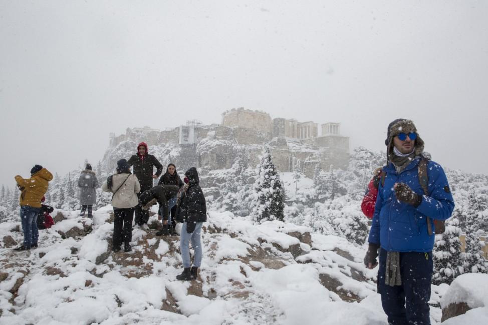 Winterwetter - Athen