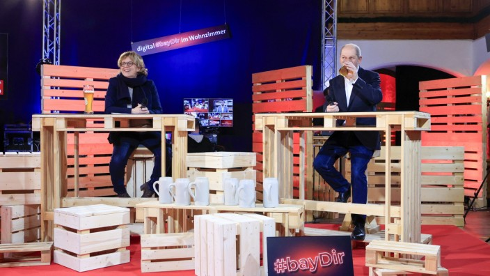 Erster digitaler Politischer Aschermittwoch der BayernSPD unter dem Motto Digital bayDir im Wohnzimmer Vilshofen (Bayer