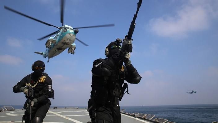 Iranische Spezialkräfte bei einer Übung im Indischen Ozean.