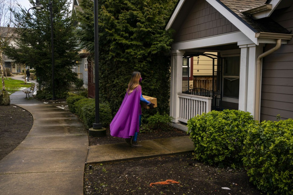 Seattle Woman Dresses As Superhero And Makes Deliveries In Covid-Themed Car