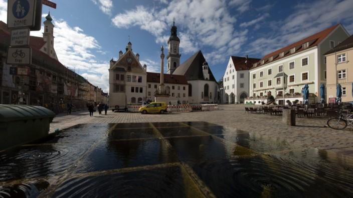 FREISING: Altstadt - Ansicht Marienplatz