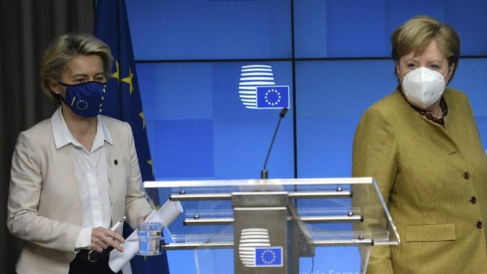 EU-Kommission verklagt Deutschland; Ursula von der Leyen, Angela Merkel