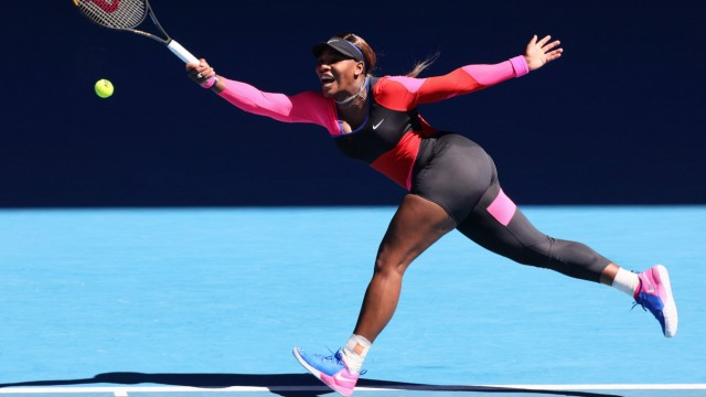 February 18, 2021: 10th seed Serena WILLIAMS of the USA in action against 3rd seed Naomi OSAKA of Japan in a Women s Sem