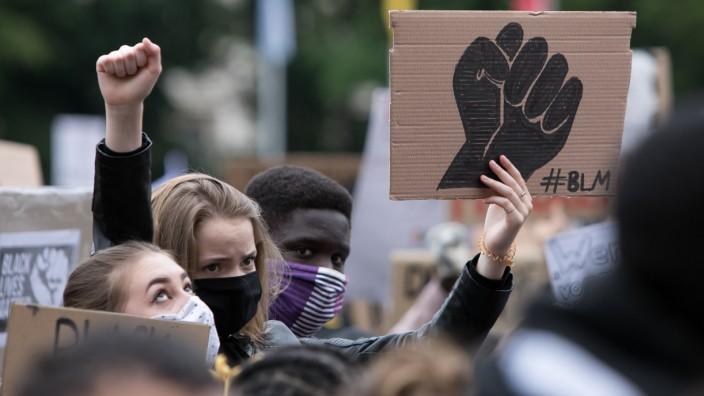 Demonstration gegen Rassismus auf dem Königsplatz in München, 2020