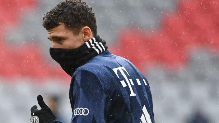 FC Bayern: Benjamin Pavard, hier vor dem Spiel der Bayern gegen Freiburg im Januar.