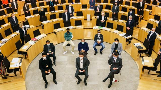 Wiesbadener Landtag - Gedenkveranstaltung für Hanau-Opfer