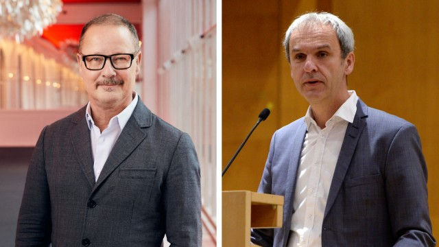Kultur in der Krise: Andreas Beck, Intendant des Residenztheaters (links) und der Präsident der Musikhochschule, Bernd Redmann.