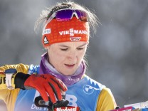 Denise Herrmann (Germany) targeting prior race in the women 7,5km Sprint Competition during the Biathlon IBU World Cham