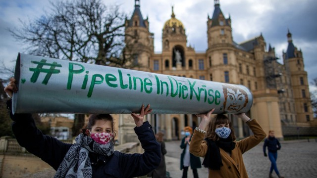 'Fridays for Future'-Protest gegen Nord Stream 2