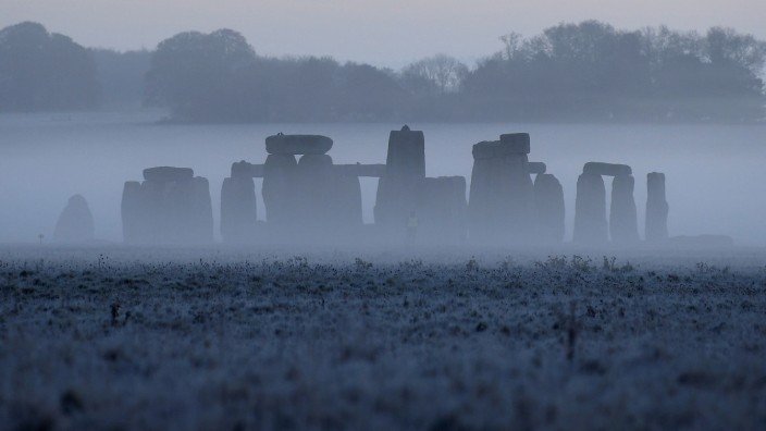 FILE PHOTO: Stonehenge ancient stone circle is seen at dawn, near Amesbury, Wiltshire, Britain
