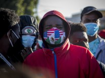 Migranten an der Grenze zwischen Mexiko und den USA