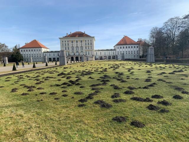 Maulwürfe baggern sich durch Schlosspark Nymphenburg