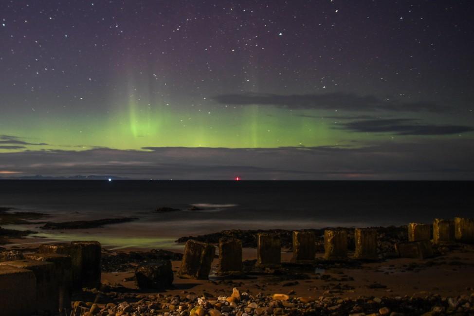 ***BESTPIX*** Aurora Borealis Visible From North Coast Of Scotland