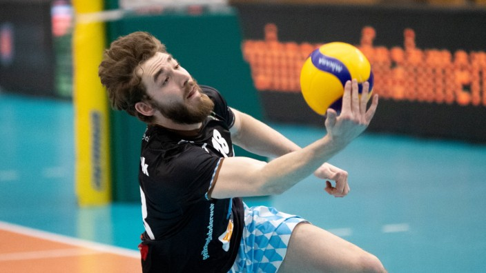Herrschings 18 David Matthew WIECZOREK. Volleyball, Herrsching - Unterhaching, Bundesliga, Saison 2020-2021, am 20.2.20