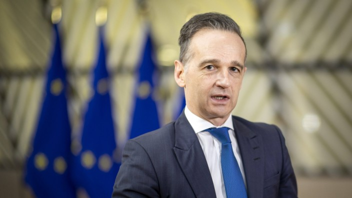 EU: Bundesaußenminister Heiko Maas 2021 in Brüssel