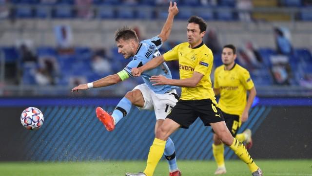 Fußball Champions League Gruppenphase 1. Spieltag Lazio Rom - Borussia Dortmund am 20.10.2020 im Olympiastadion in Rom; Lazio
