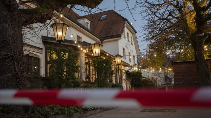 Grünwald, Hotel Alter Wirt, Restaurant, derzeit geschlossen, Foto: Angelika Bardehle