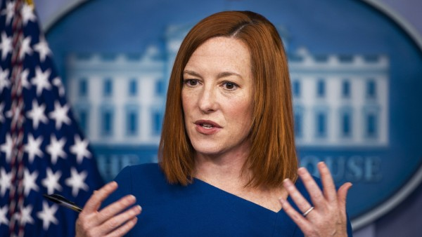 White House Press Secretary Jen Psaki speaks during a press briefing in the Brady Press Briefing Room of the White Hous