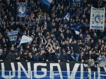 Supporters of Atalanta during the UEFA Champions League Round of 16 match between Atalanta and Valen; Atalanta Bergamo
