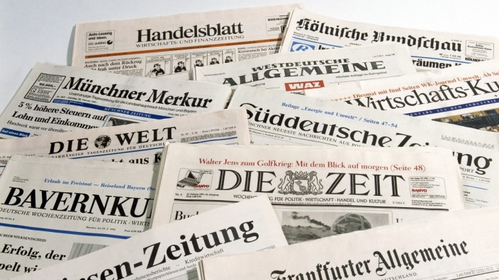 Große Auswahl an Tages-, Wochen- und Wirtschaftszeitungen - Vielfältige deutsche Medienlandschaft