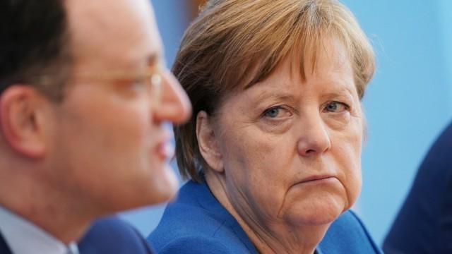 Merkel Speaks To Media As Coronavirus Top 1,500 in Germany
