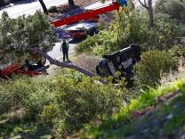 """Unfall von Tiger Woods: """"Er kann froh sein, dass er noch am Leben ist"""""""