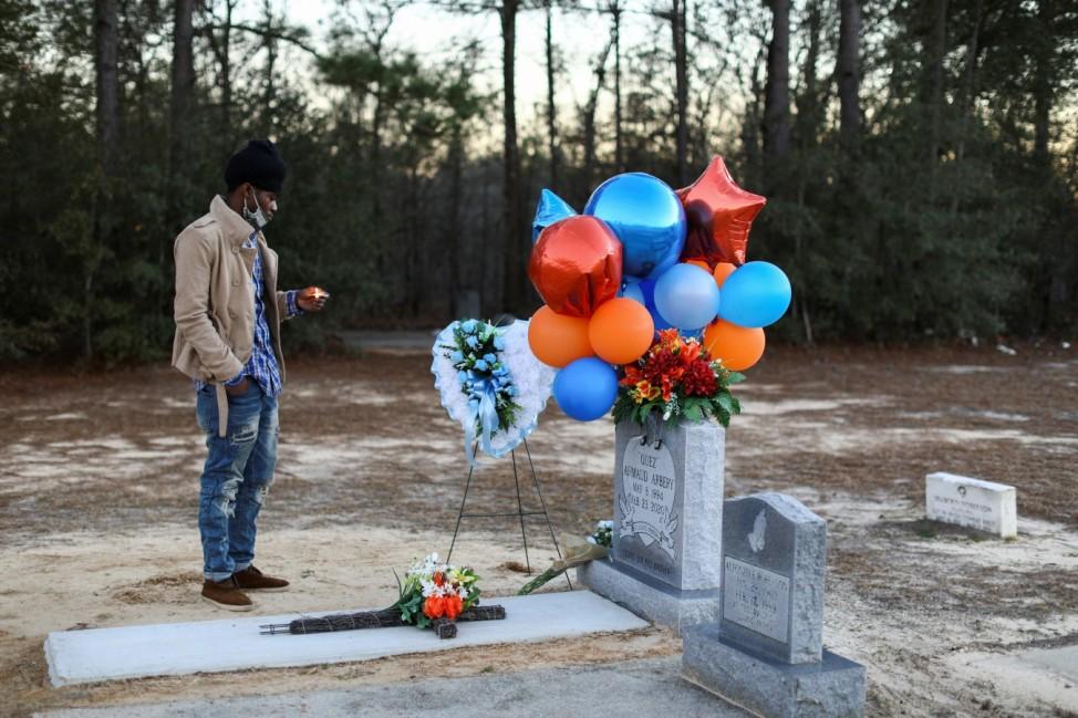 Candle light vigil to mark the one year anniversary of Ahmaud Arbery's death, in Waynesboro