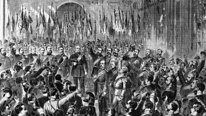 Kaiserproklamation im Spiegelsaal von Versailles, 1871