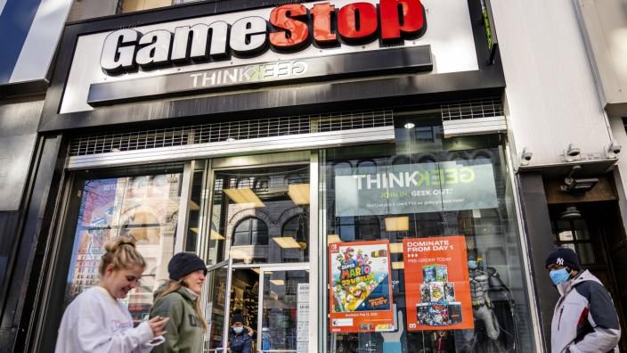 Eine Gamestop-Filiale in New York