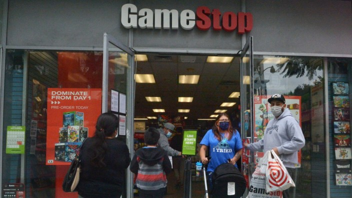 A GameStop retail store is seen in Los Angeles on Sunday, January 31, 2021. Sources told Deadline, an online news site