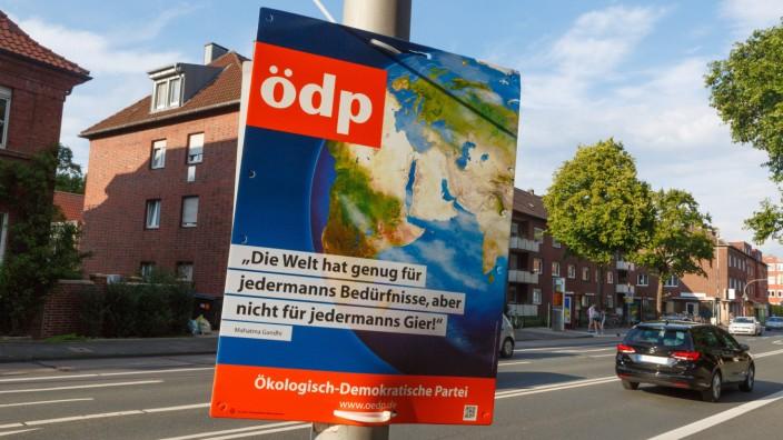 DEU Deutschland Nordrhein Westfalen Münster 14 08 2017 Bundestagswahlkampf 2017 Wahlplakate