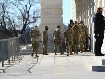 U.S. National Guard soldiers remain on guard on Capitol Hill in Washington