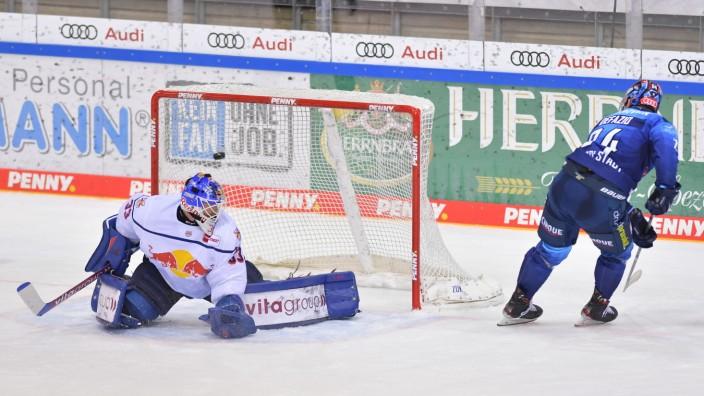 Eishockey, Herren, DEL, Saison 2020-2021, ERC Ingolstadt - EHC Red Bull München, 25.02.2021 Brandon DeFazio (Nr.24 - ER