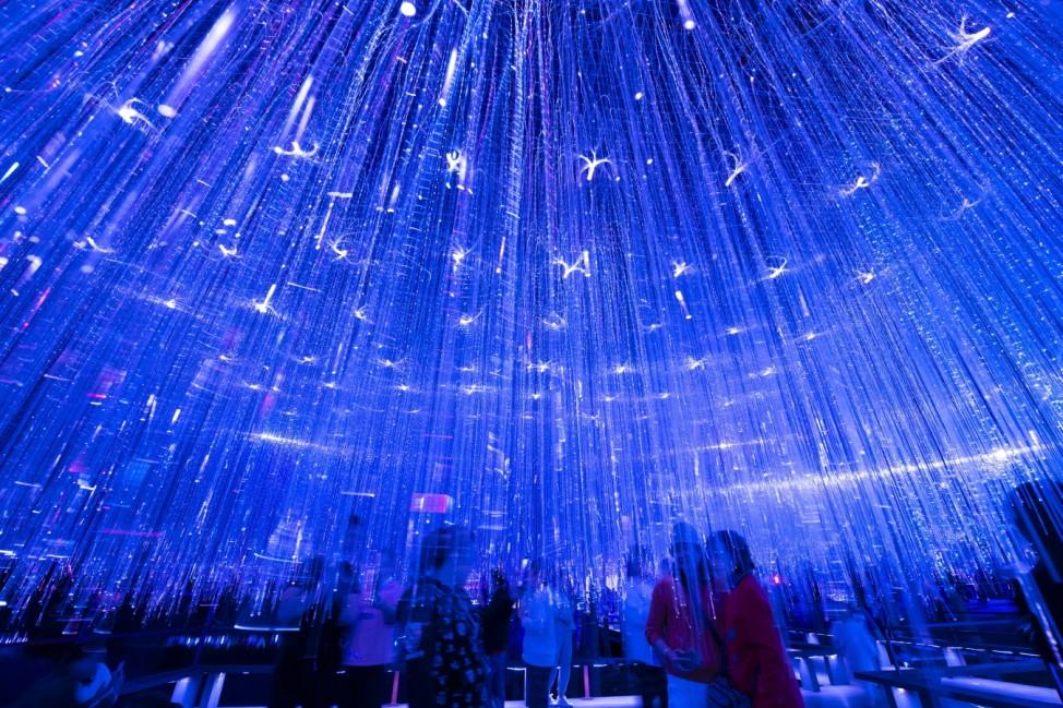 NANNING, CHINA - FEBRUARY 26: People visit a lantern show to celebrate the Lantern Festival at Mount Qingxiu Scenic Spo