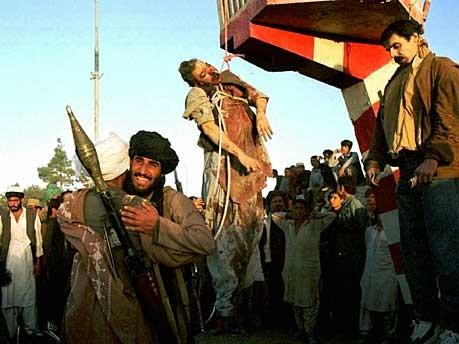 Taliban bejubeln die Erhängung Nadschibullahs, AP