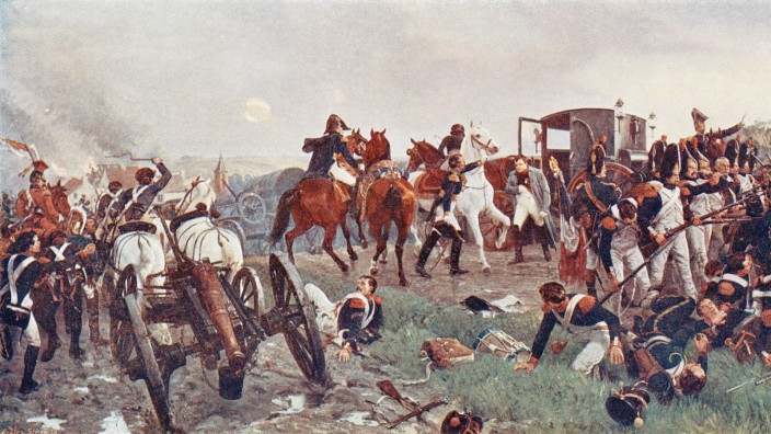 On The Evening Of The Battle Of Waterloo After A Painting By Ernest Crofts The Painting Shows Napo