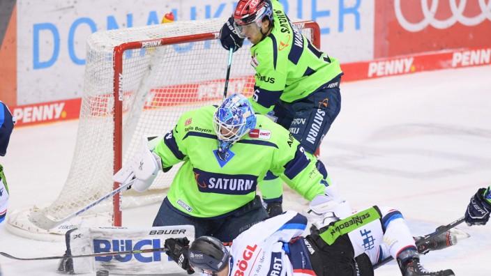 Eishockey, Herren, DEL, Saison 2020-2021, ERC Ingolstadt - Straubing Tigers, 10.02.2021 Kael Mouillierat (Nr.21 - Straub; Eishockey, Herren, DEL, Saison 2020-2021, ERC Ingolstadt - Straubing Tigers, 10.02.2021 Kael Mouillierat (Nr.21 - Straubing Tigers) s