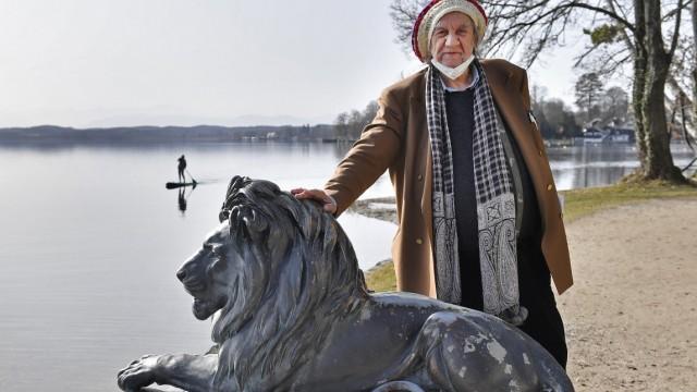 Tutzing, Starnberger See, beim GH Häring, Lothar Böhmert